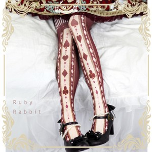 Ruby Rabbit Poker Alice Lolita Style Tights (RR14)