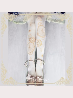 Ruby Rabbit Horoscope Clock Lolita Style Tights (RR15)