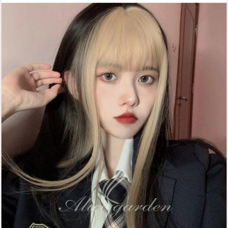 Asahina Black X Gold Lolita Wig by Alice Garden (AG28)