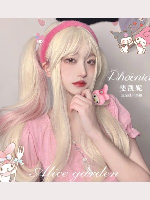 Phoenia Pink X Gold Lolita Wig by Alice Garden (AG31)