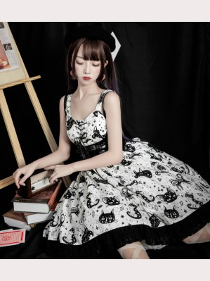 Diamond Cat Gothic Lolita Dress JSK by AnnieParcel (AP01)