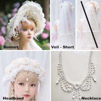 Heaven's Wedding Gown Classic Lolita Accessories by Cat Fairy (CF11A)