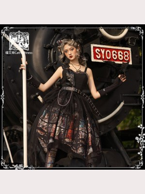 Silent Salvation Gothic Lolita Top & Skirt Set by Cat Highness (CH28)