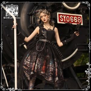 Silent Salvation Gothic Lolita Top & Skirt Set by Cat Highness (CH28)