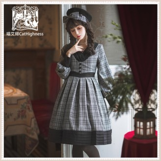 Vintage School Lolita Dress OP by Cat Highness (CH26)