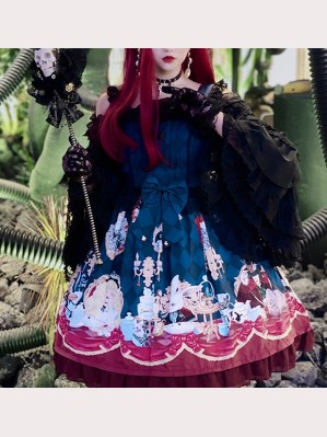 Diamond Honey Dark Alice Gothic Lolita Dress JSK (DH02)