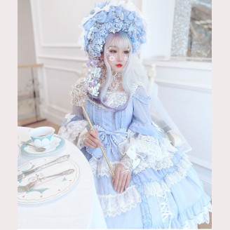 Hime Lolita Dress + KC + Veil 3pc Set by Diamond Honey (DH62)