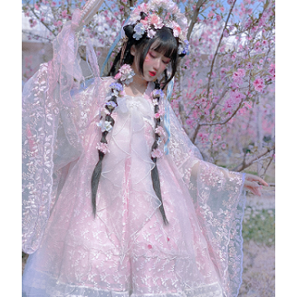 Sakura Qi Lolita Dress OP by Diamond Honey (DH60)