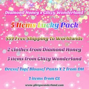 Diamond Honey x Glitzy Wonderland Lucky Bag $59 for 5 items (LP21)