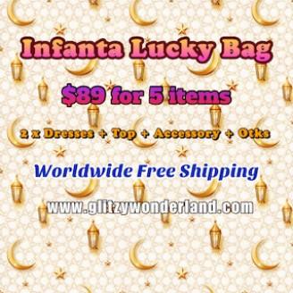 Infanta Lucky Bag 2 Dresses + 1 Top + 1 Accessory + Otks (INL5)