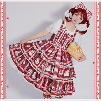 Strawberry Afternoon Tea Lolita Dress JSK by Infanta (IN983)