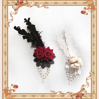 Broken Doll Gothic Lolita Style Brooch / Hair Clip by Infanta (IN970)