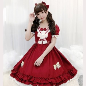 Sailor Collar School Lolita Style Dress OP by JingYueFang (YJ13)