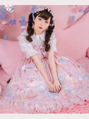 Candy Dog Sweet Lolita Style Dress JSK by Lineall Cat (LC02)