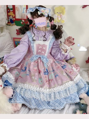 Doll Dresser Sweet Lolita Style Dress JSK by Lineall Cat (LC03)