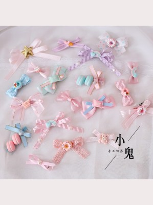 19 Kawaii Pastel Hair Clips Set (LG37)