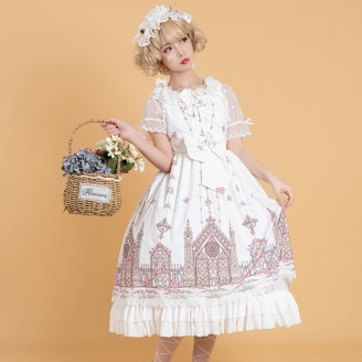 Rose Palace Classic Lolita Style Dress JSK & KC Set by Ocelot (OT11)