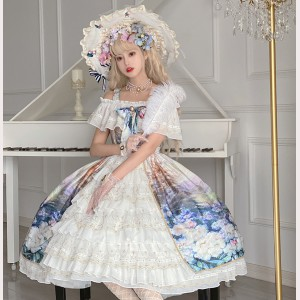 Floral Sea Classic Lolita Style Dress OP (CLS10)
