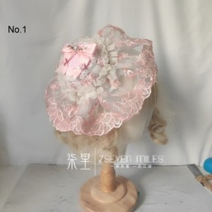 Multi-Style Classic Lace Bowknot Lolita Hat Hair Clip (SM01)