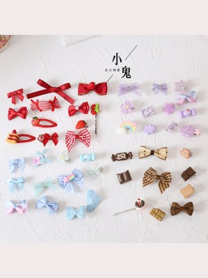 Kawaii Candy Hair Accessories Set (Hair Clips x 12 pcs) (LG17)