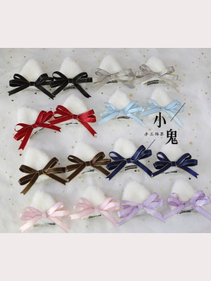 Cat Ears Bowknot Lolita Hair Clips (LG23)
