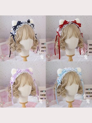 Cat Ears Bowknot Lolita Headdress (LG27)