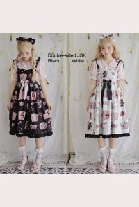 Cat Poker Double-sided Sweet Lolita Style Dress JSK (PS03)