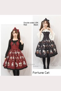 Fortune Cat Double-sided Sweet Lolita Style Dress JSK (PS04)