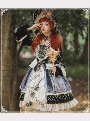 Finches In The Mirror Classic Lolita Dress OP Full Set (SF05)
