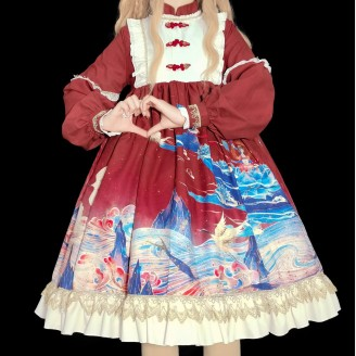 The Classic of Mountains and Seas Qi Lolita Style Dress OP (WS15)