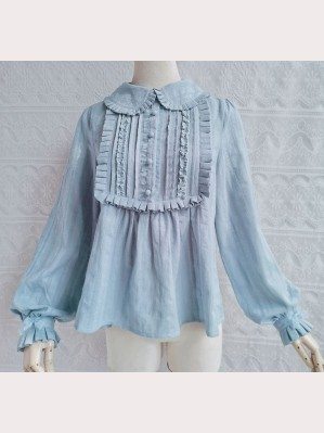 Accordion Plated Lolita Style Blouse (YA03)