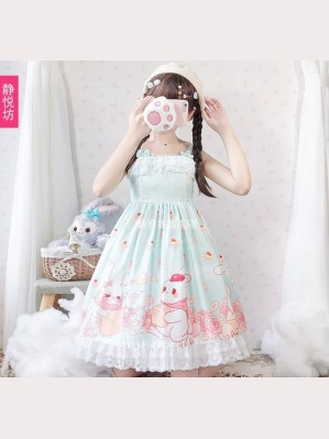 Dessert Rabbit Sweet Lolita Style Dress JSK by JingYueFang (YJ02)