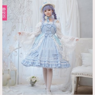 Blue Dream Hime Lolita Style Dress JSK by JingYueFang (YJ05)