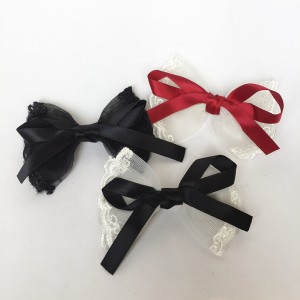 Lolita Ribbon & Lace Hair Clips  * $15 for 3pc * (WST01)
