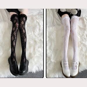Lace Lolita Over Knee Socks Otks (IS02)