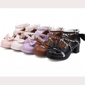 Sweet Bowknot Sweet Lolita Style Shoes (19901)