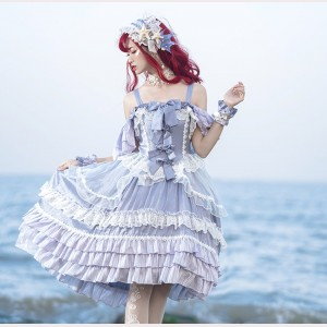Sparkling Bubble Lolita Dress OP by Souffle Song (SS1027)