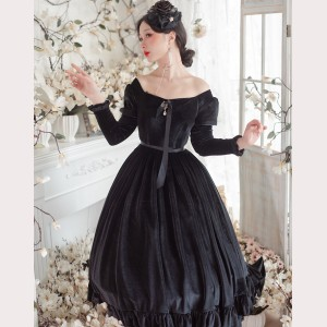 Vivian Elegant French Lolita dress OP by Souffle Song (SS1021)