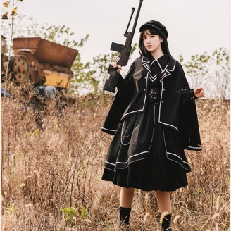 Loyal Chariot Military Lolita Style Dress OP & Cloak by Withpuji (WJ07)