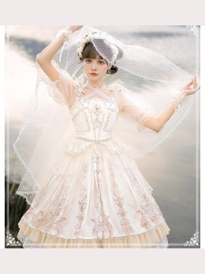 Day And Night Carol Lolita Dress JSK Full Set by YingLuoFu (SF54)