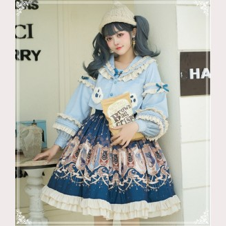 Star Exploration Lolita Dress Skirt + Jacket Set by YingLuoFu (SF14)