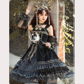 Royal Starry Night Hime Lolita Dress JSK Full Set by YingLuoFu (SF17)