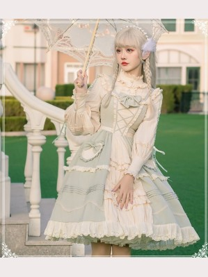 March Flowers Classic Lolita Dress JSK + Blouse Set by YingLuoFu (SF18)