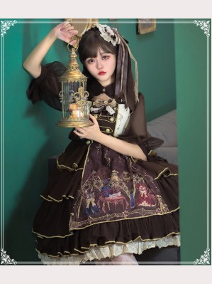 Alchemist Lolita Dress + Hair Clip Set by YingLuoFu (SF26)