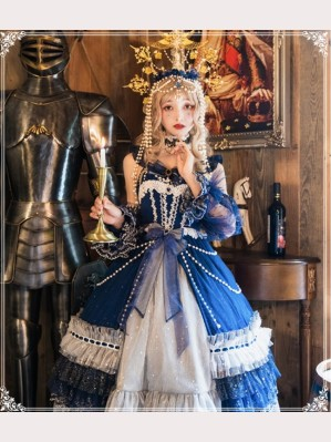 A Starry Night Lolita Dress JSK Full Set (4 items) by YingLuoFu (SF30)