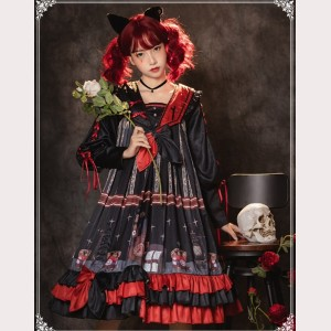Marionette Gothic Style Lolita Dress OP by YingLuoFu (SF33)