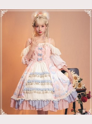 Cloudy Dreamland Lolita Dress OP by YingLuoFu (SF34)