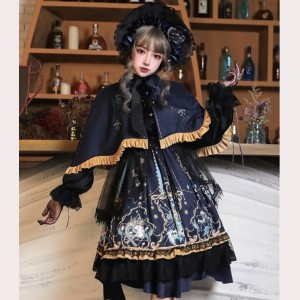 God Salvation Gothic Style Lolita Dress OP 4 Items Set by YingLuoFu (SF37)