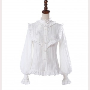 Wrinkle Vintage Style Lolita Blouse by YingLuoFu (SF45)