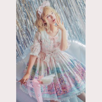 Easter Bunny Classic Lolita Dress OP by Milu Forest (MF08)